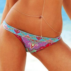 Victoria's Secret Paisley Pink Bikini Bottom💖